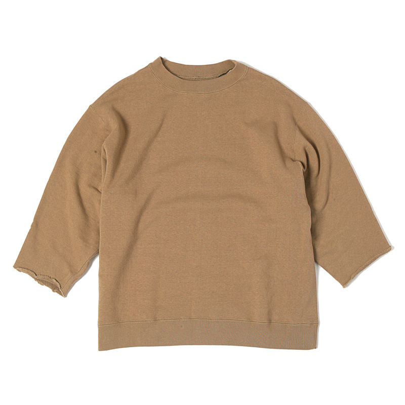CUT OFF SWEATSHIRTS - BROWN