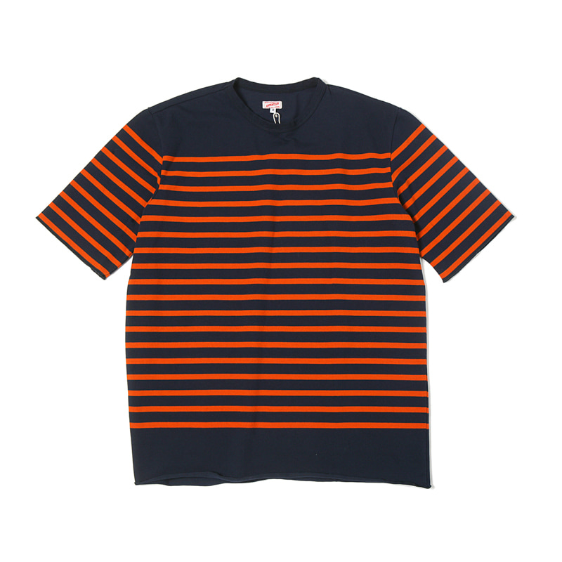 PONYUS RACHEL TEE - NAVY/ORANGE