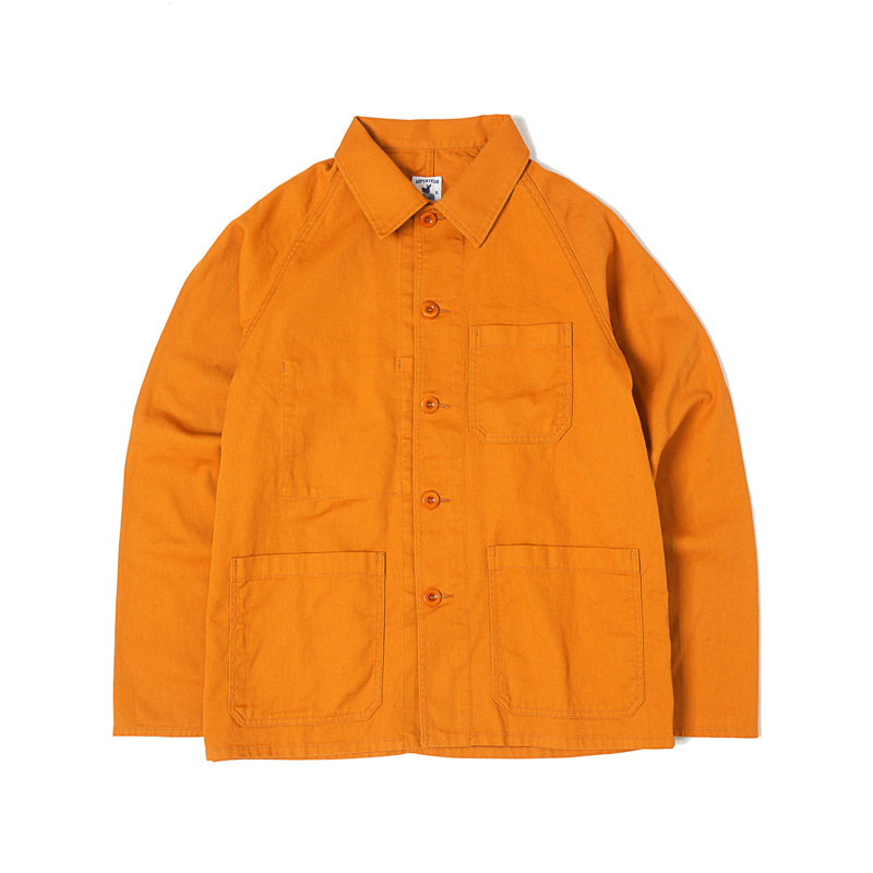 RAGLAN SERGE JACKET - ORANGE