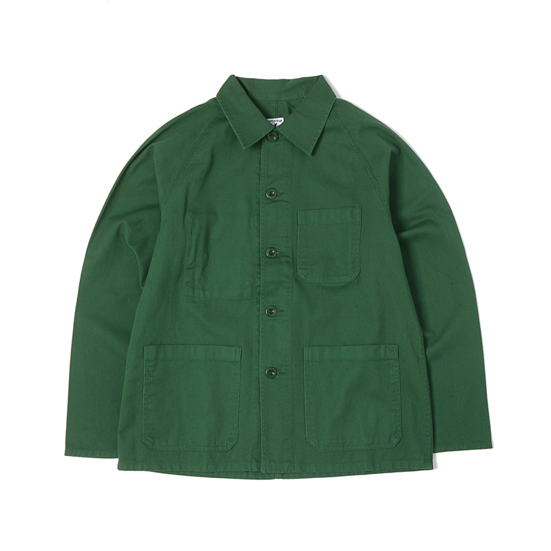 RAGLAN SERGE JACKET - GREEN