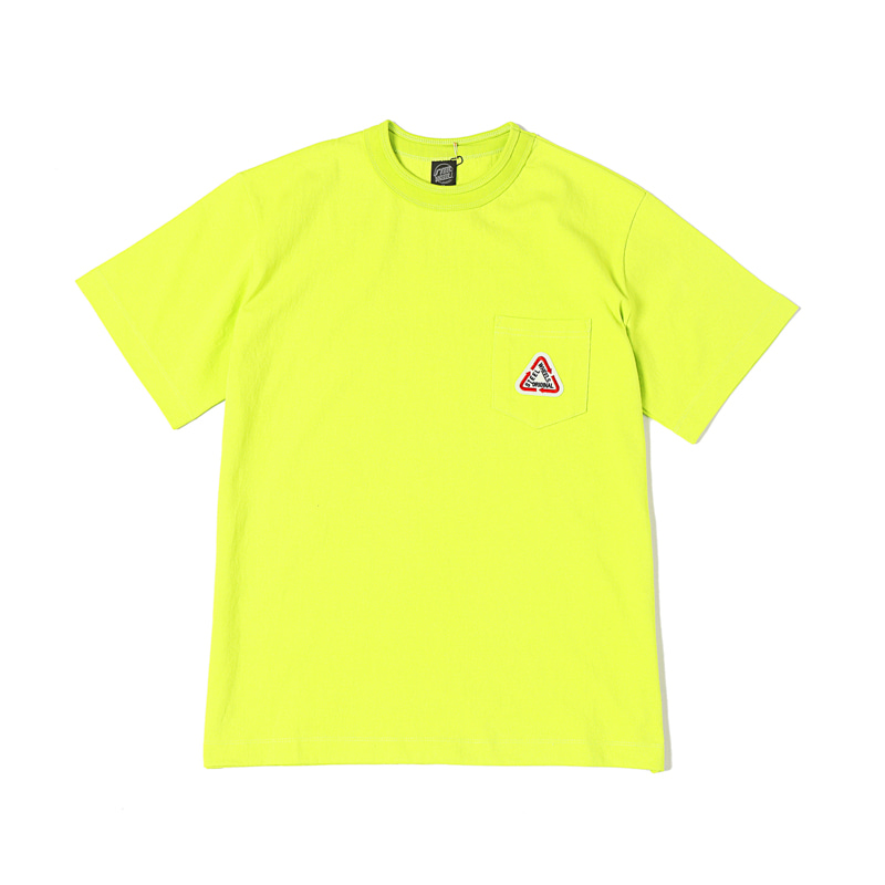 S LOGO POCKET T-SHIRT - LIME