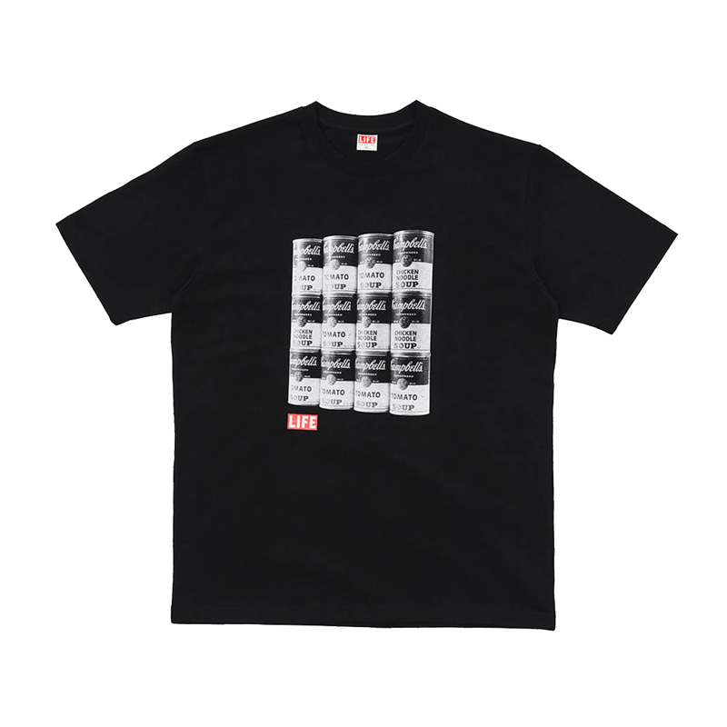 CAMPBELL'S SOUP T-SHIRT - BLACK