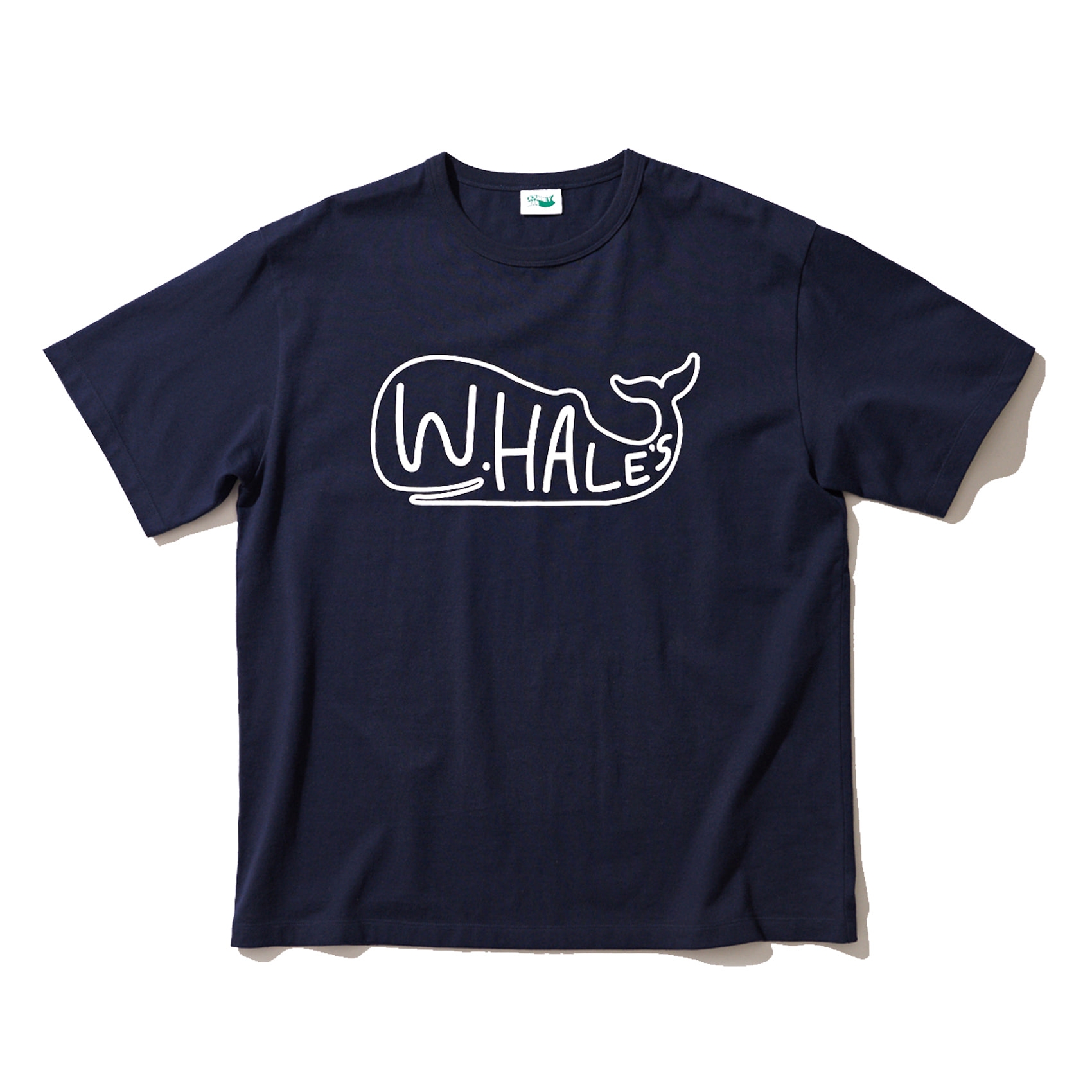 WHALES BIG LOGO T SHIRT - NAVY