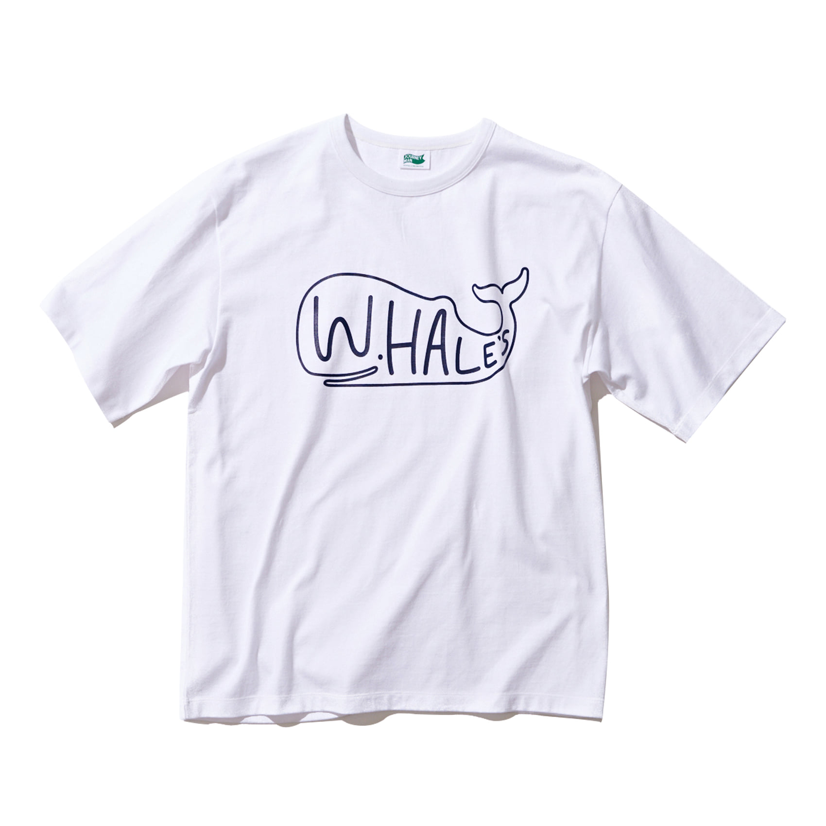 WHALES BIG LOGO T SHIRT - WHITE