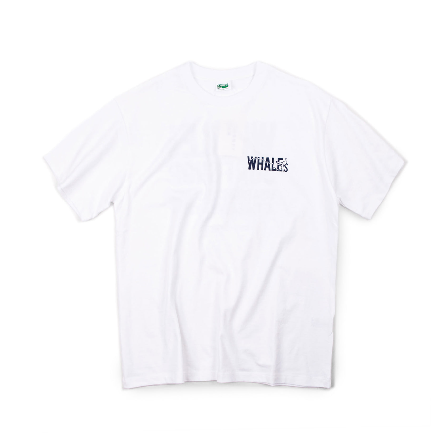WHALES ADDRESS TEE - WHITE
