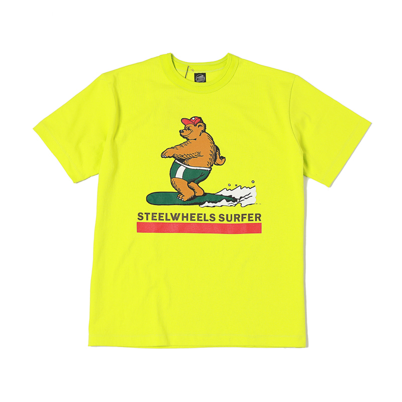 SURF BEAR2 T SHIRT - LIME