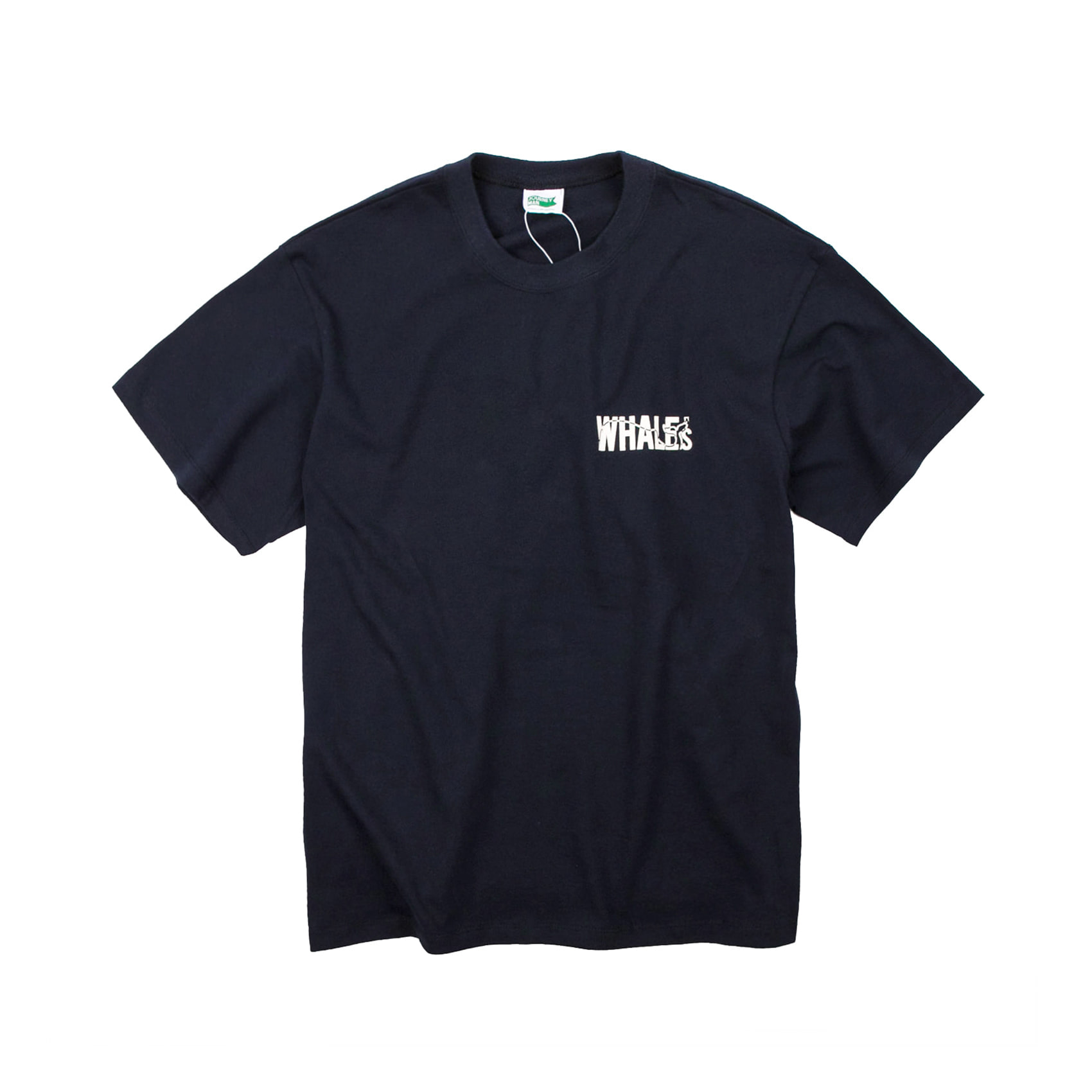 WHALES ADDRESS TEE - NAVY