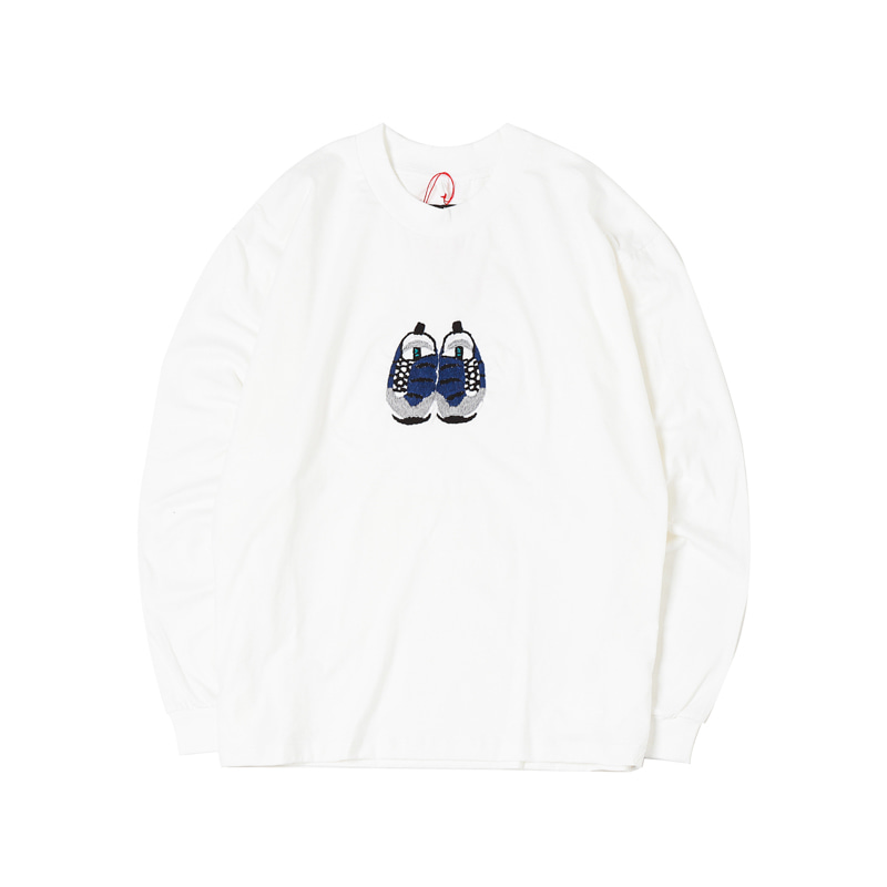 FOOTSCAPE L/S TEE - WHITE