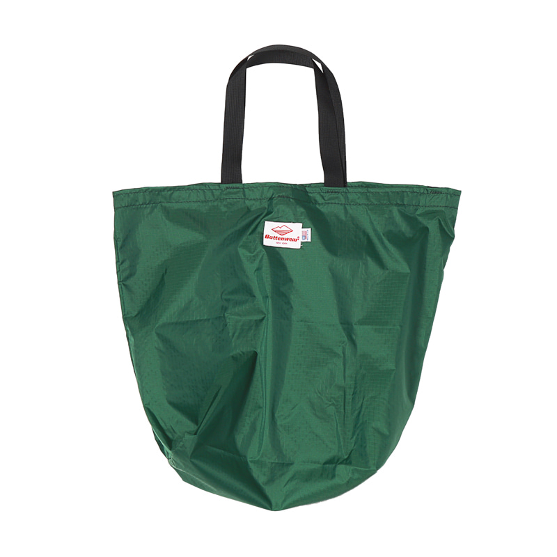 PACKABLE TOTE BAG - FOREST GREEN