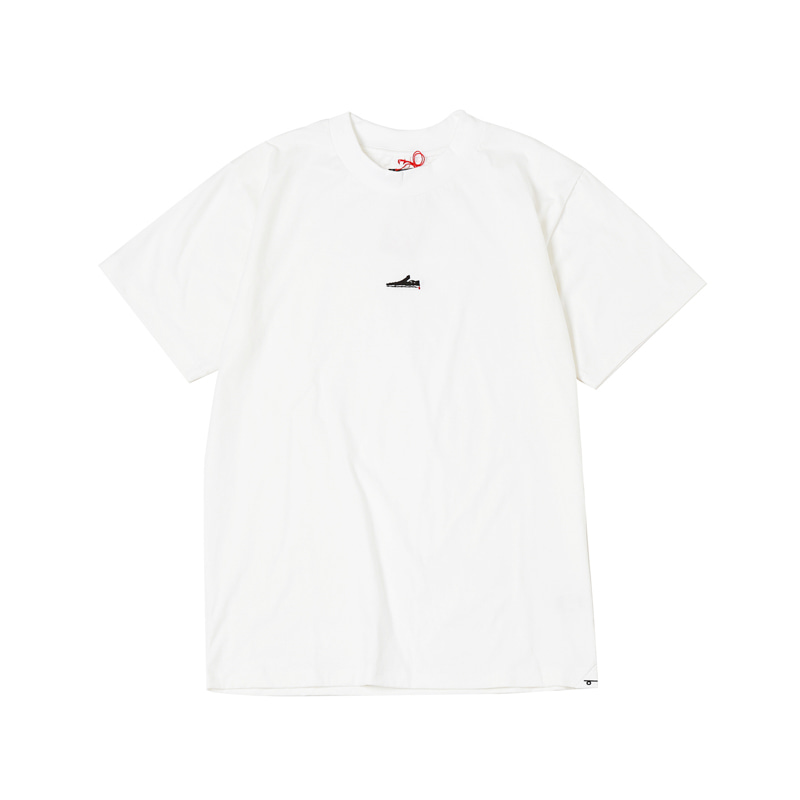 SLIP ON MINI S/S TEE - WHITE