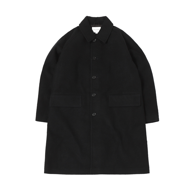 BONDED BAL COLLAR COAT - CHARCOAL