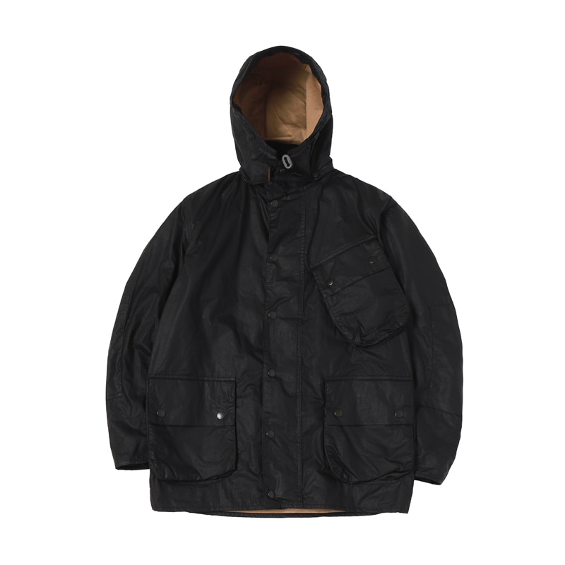 MARGARETT HOWEL A7 WAX JACKET - BLACK