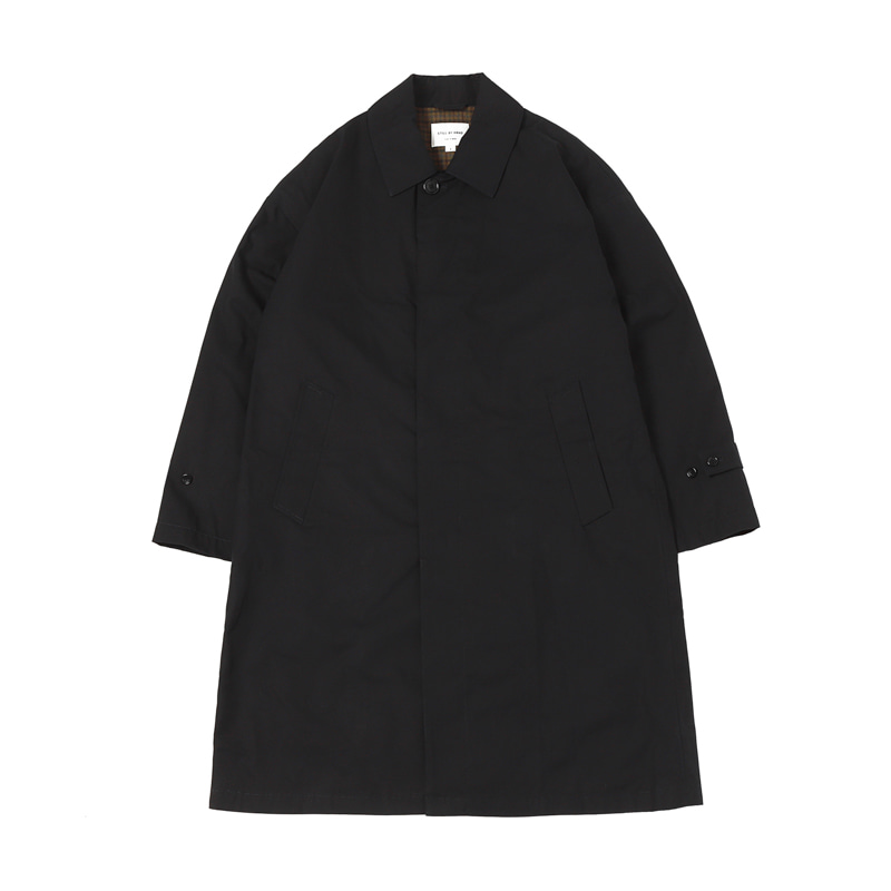 OVERSIZED BAL COLLAR COAT - NAVY