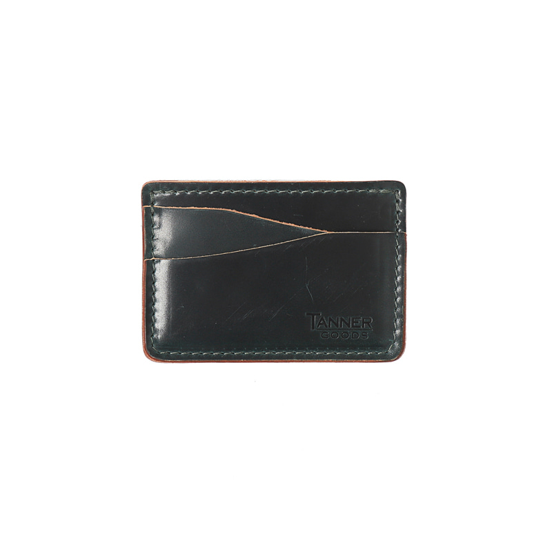 CORDOVAN JOURNEYMAN CARD WALLET - DISCOVERY GREEN
