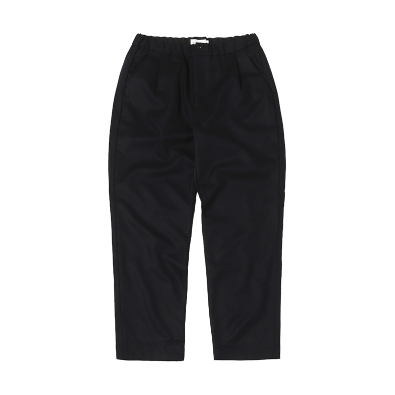 MELTON EASY PANTS - NAVY