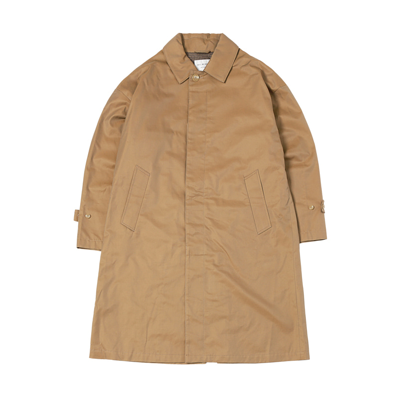 OVERSIZED BAL COLLAR COAT - BEIGE