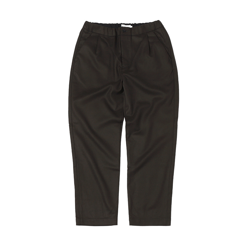 MELTON EASY PANTS - CHARCOAL