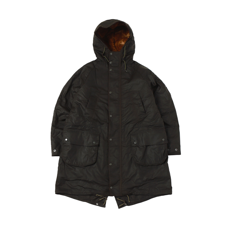 ENGINEERED GARMENTS HIGHLAND WAX PARKA - OLIVE