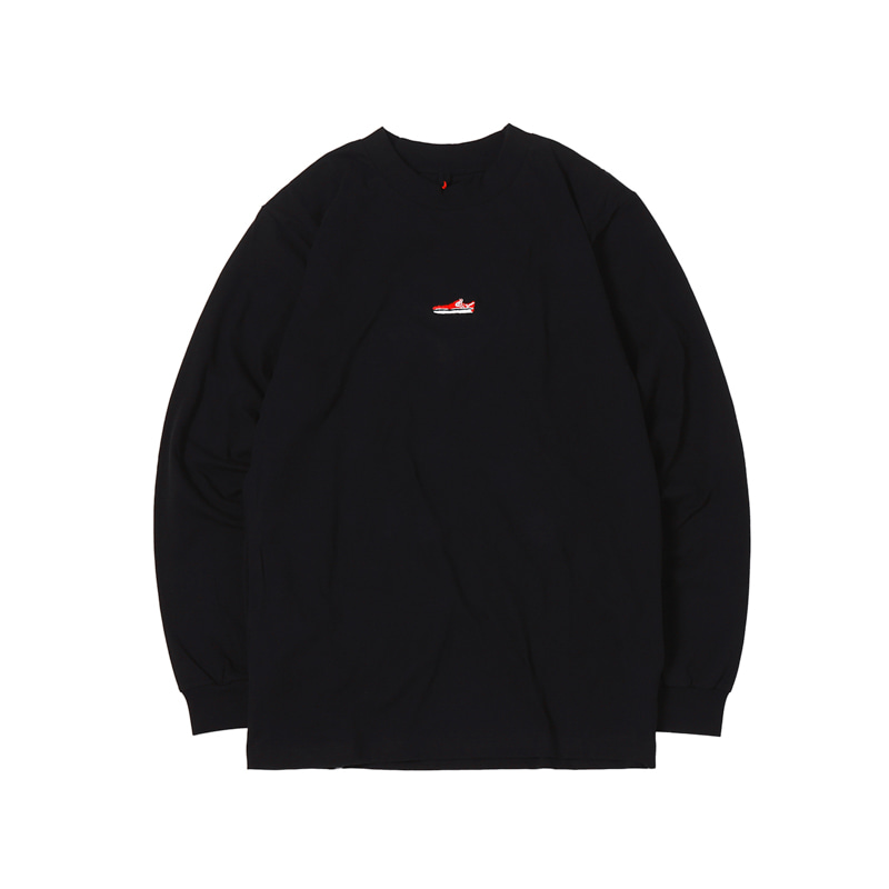 SLIP ON MINI L/S TEE - BLACK