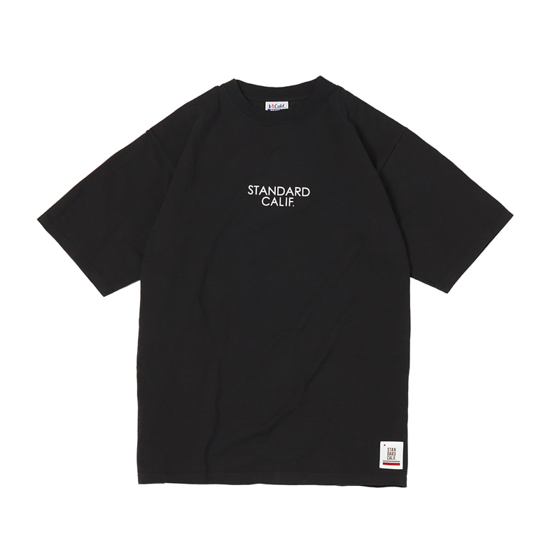 HEAVY WEIGHT LOGO TEE - BLACK