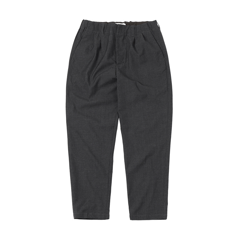 RELAX 2-TUCK PANTS - GREY