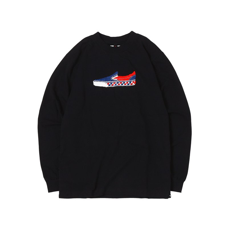 SLIP ON L/S TEE - BLACK