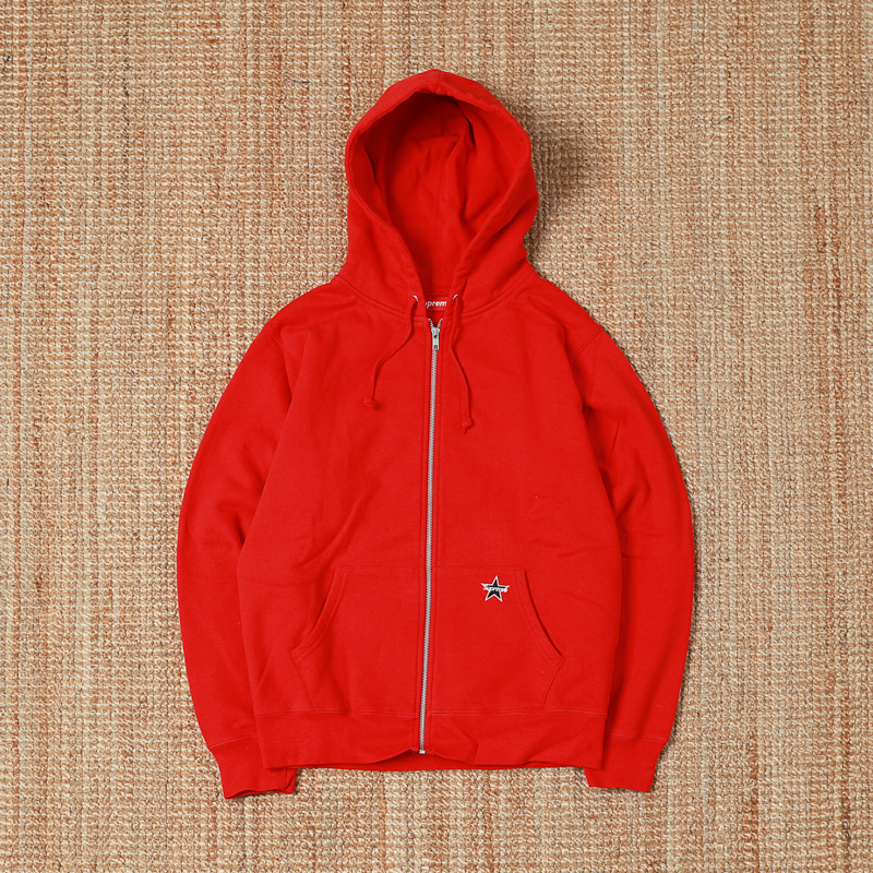 SUPREME HOODED FULL ZIP - RED