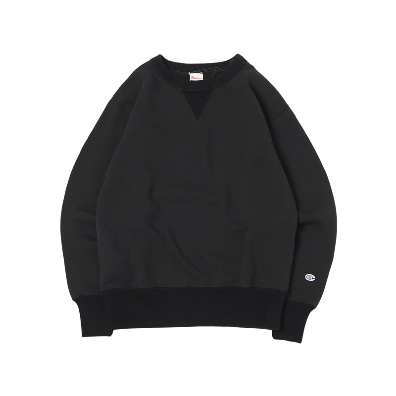 ROCHESTER  CREW NECK SWEATSHIRT - BLACK