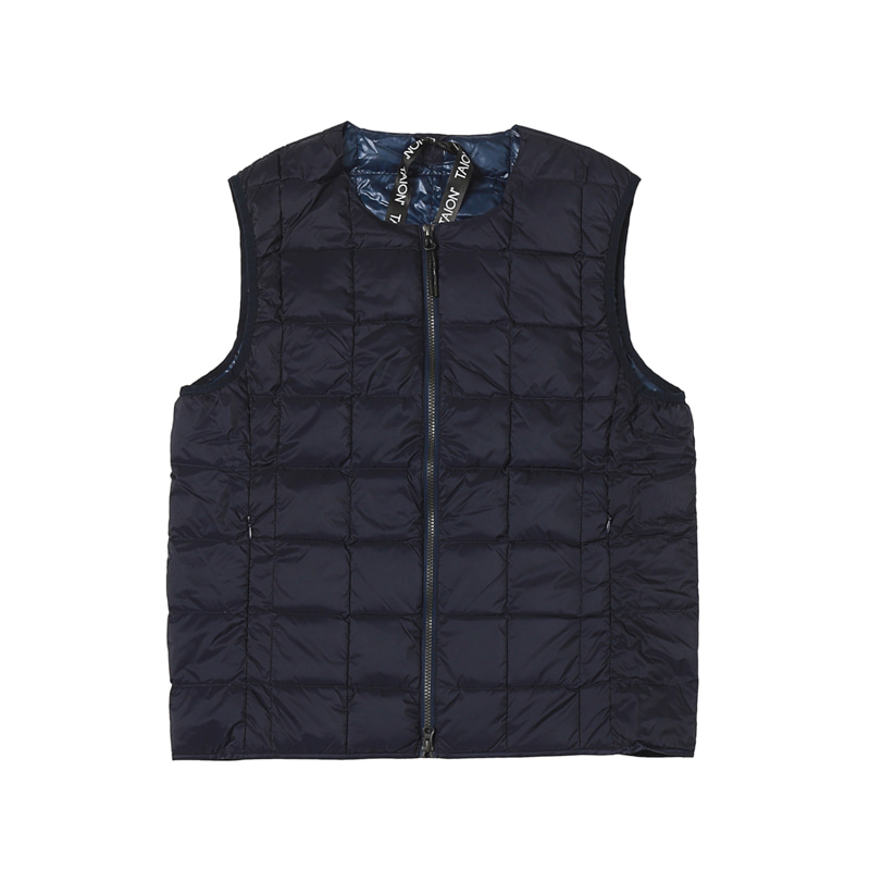 CREW NECK W-ZIP DOWN VEST - NAVY