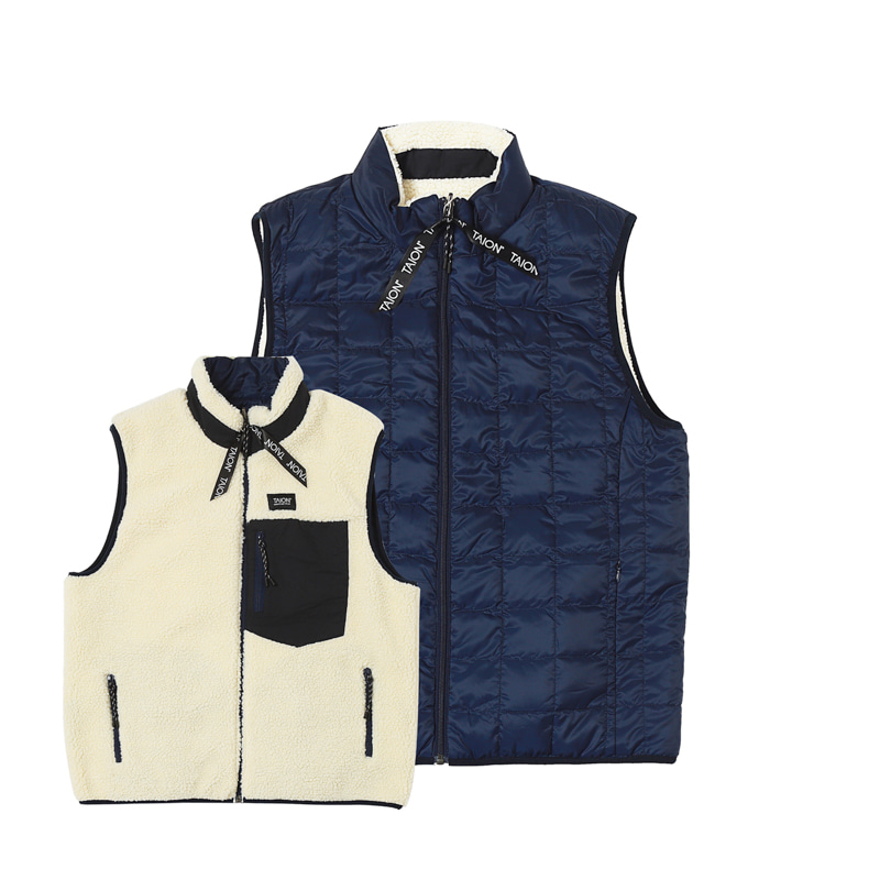 DOWN X BOA REVERSIBLE DOWN VEST - NAVY