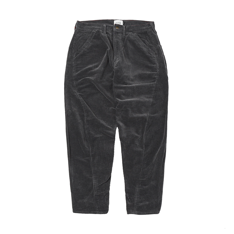CORDUROY COMFORT PAINTER PANTS - GREY