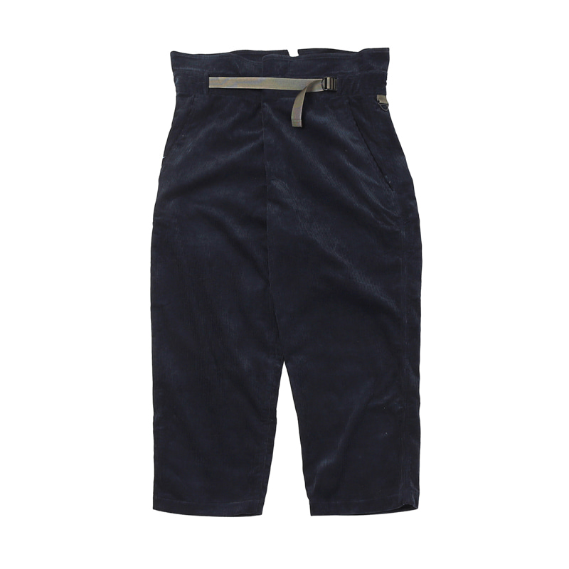 CORDUROY WRAP PANTS - NAVY
