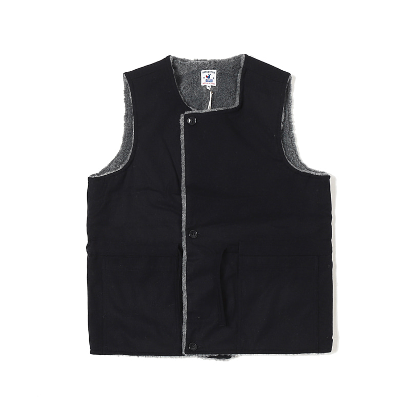 QUART WOOL VEST - NAVY