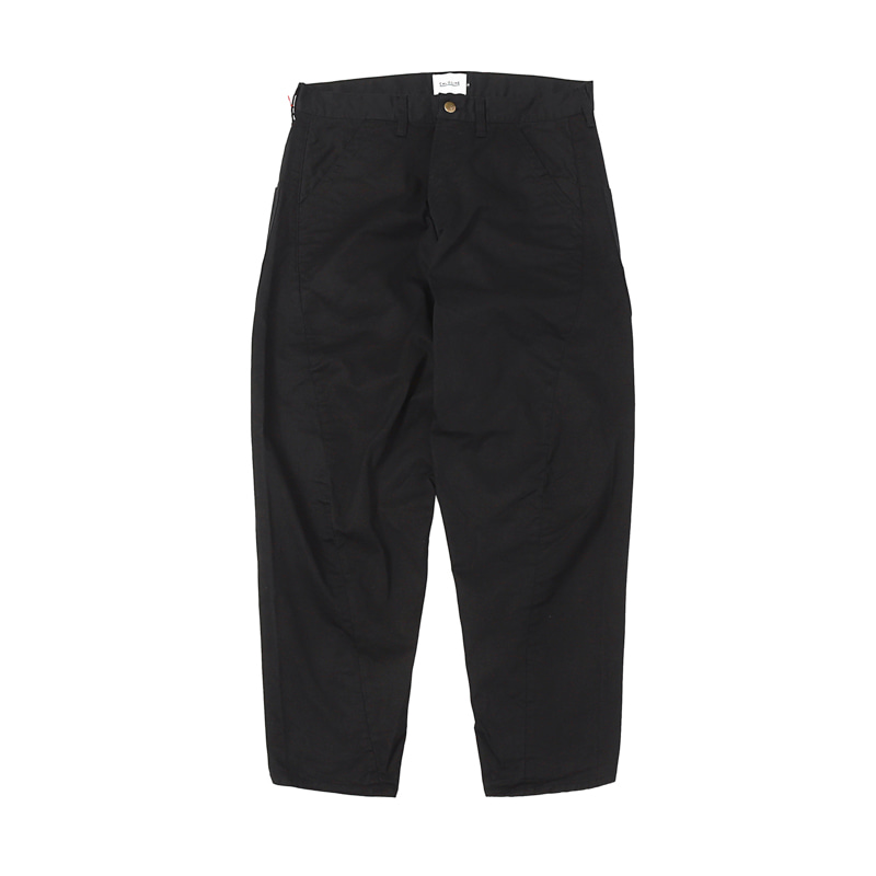 BARREL CHINO PAINTER PANTS - BLACK