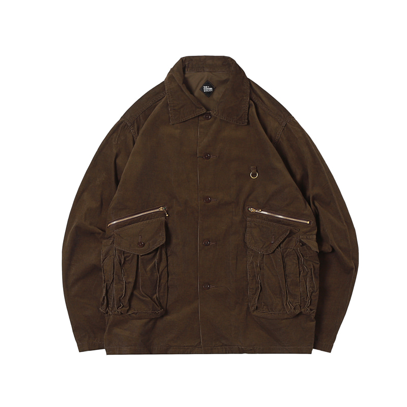 6 POCKET JAC JACKET - BROWN