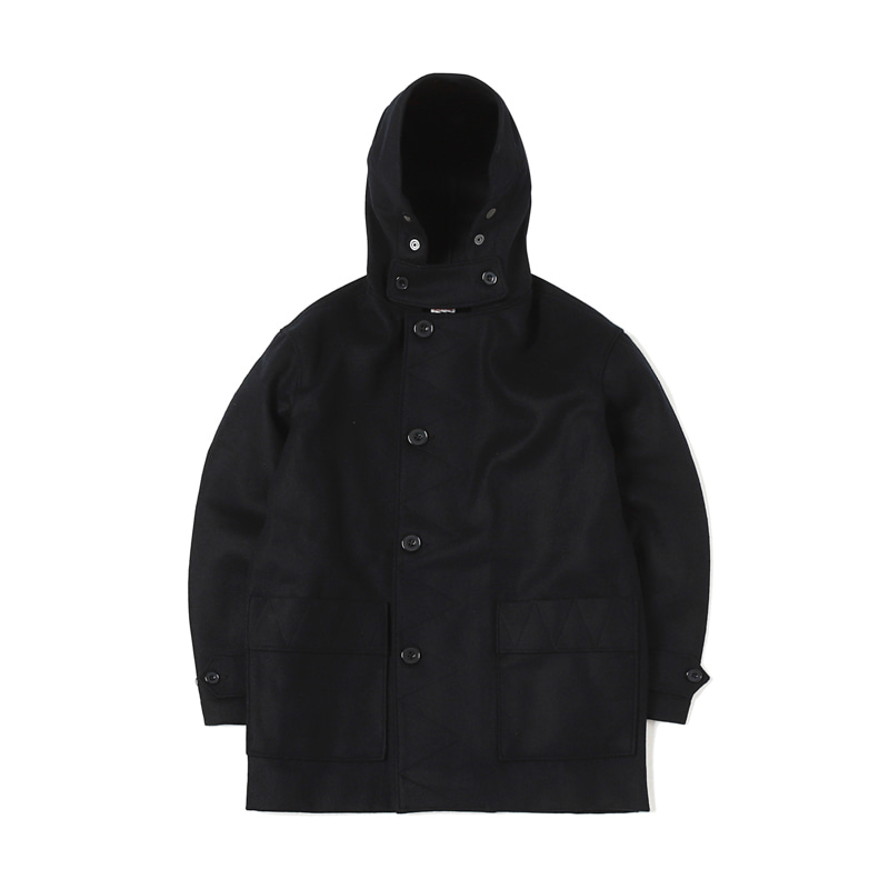 KABIG WOOL COAT - NAVY