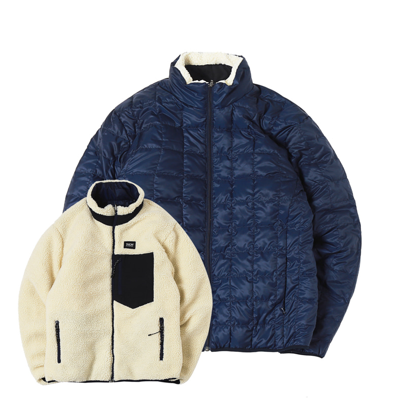 DOWN X BOA REVERSIBLE DOWN JACKET - NAVY