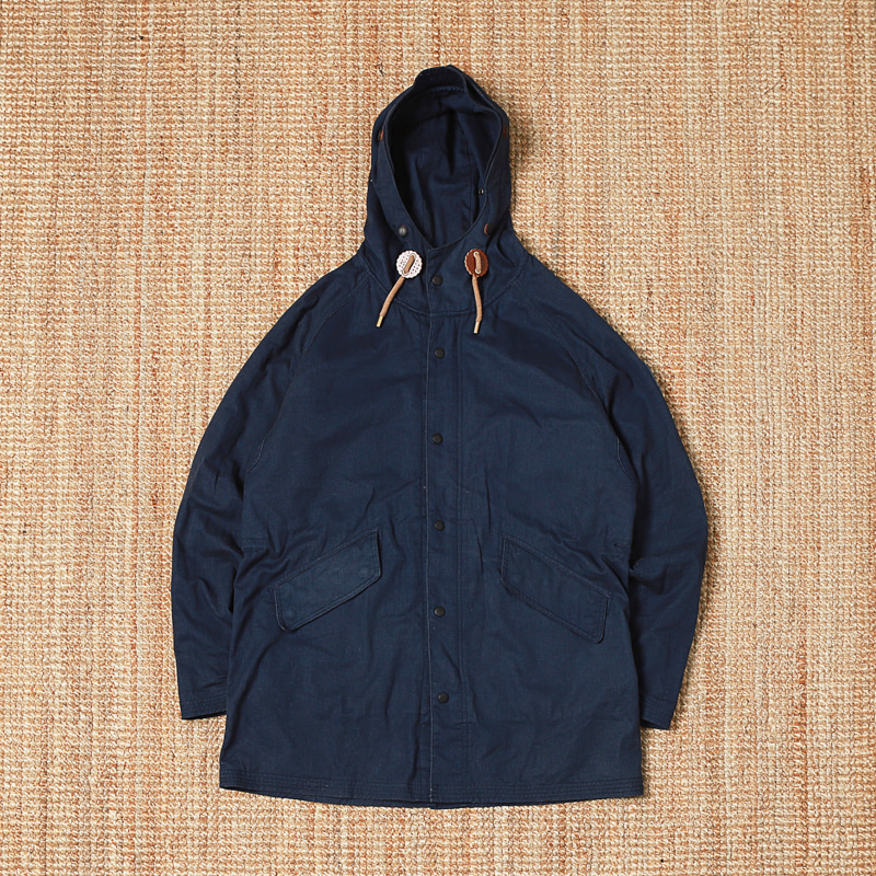 BASTONG HOODED JACKET - NAVY