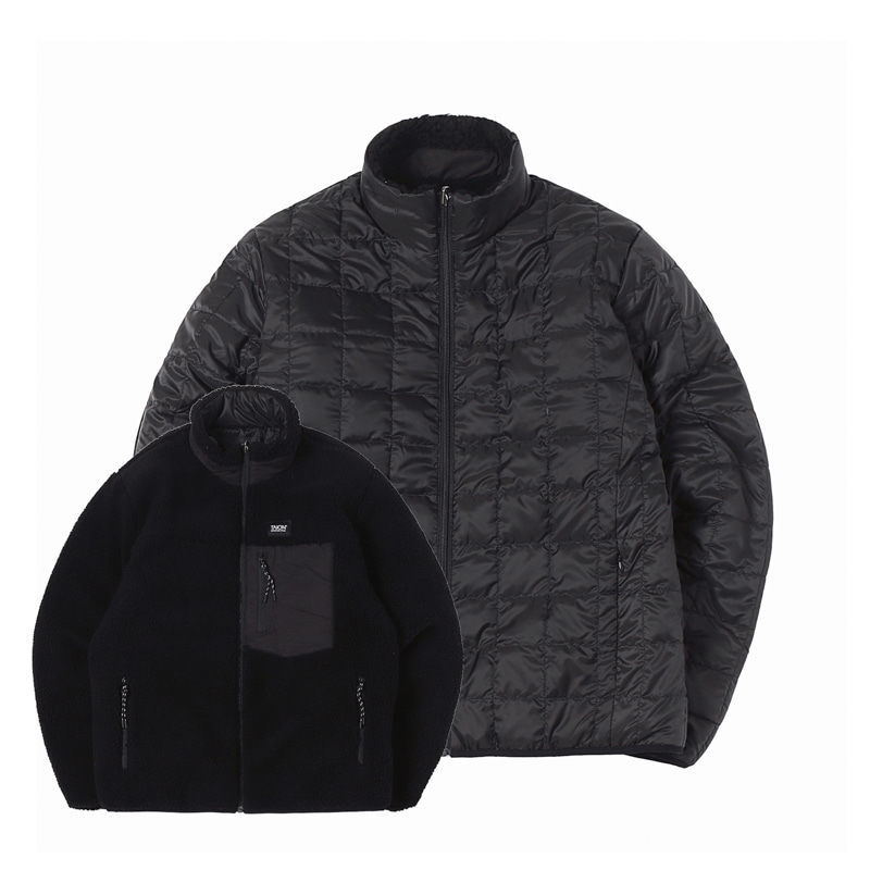 DOWN X BOA REVERSIBLE DOWN JACKET - BLACK