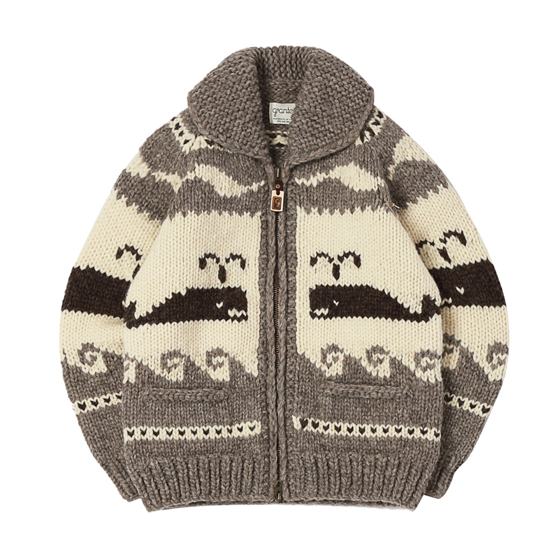 CANADIAN SWEATER - SPOUTING WHALE GREY