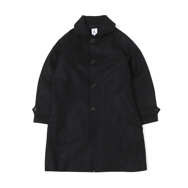 UTILE WOOL MELTON COAT - NAVY