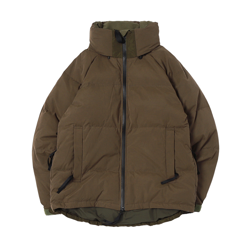 PEACH CLOTH DOWN JACKET - OLIVE