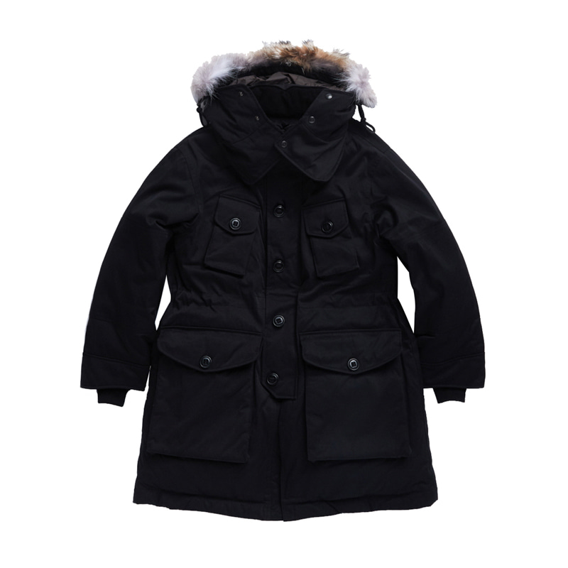 ECW DOWN PARKA - BLACK NYLON TWILL