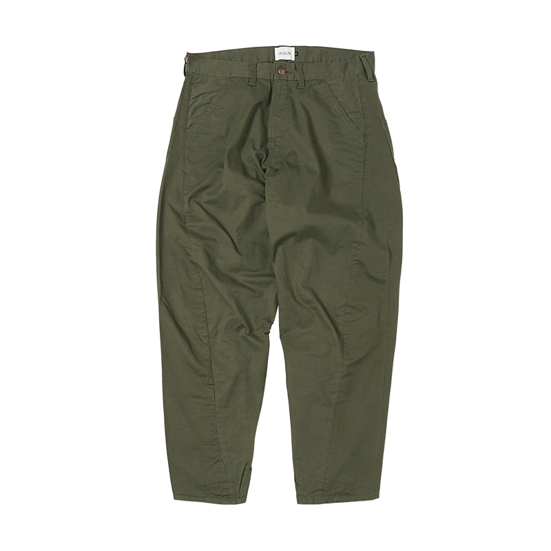 BARREL CHINO PAINTER PANTS - OLIVE DRAB
