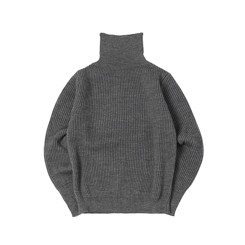 NAVY TURTLENECK - GREY
