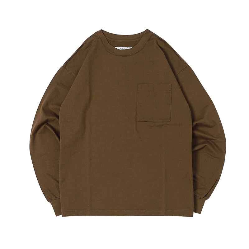 HIGHEST L/S POCKET TEE 19 - OLIVE (BH2400)