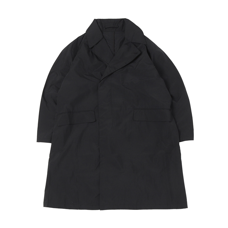 HIGHEST OVER SIZED TRENCH COAT - BLACK (BR-2417)