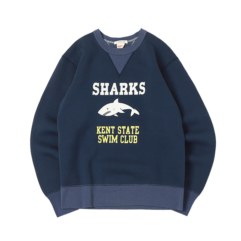 SHARK PRINTED SWEATSHIRTS - NAVY (BR-8008)