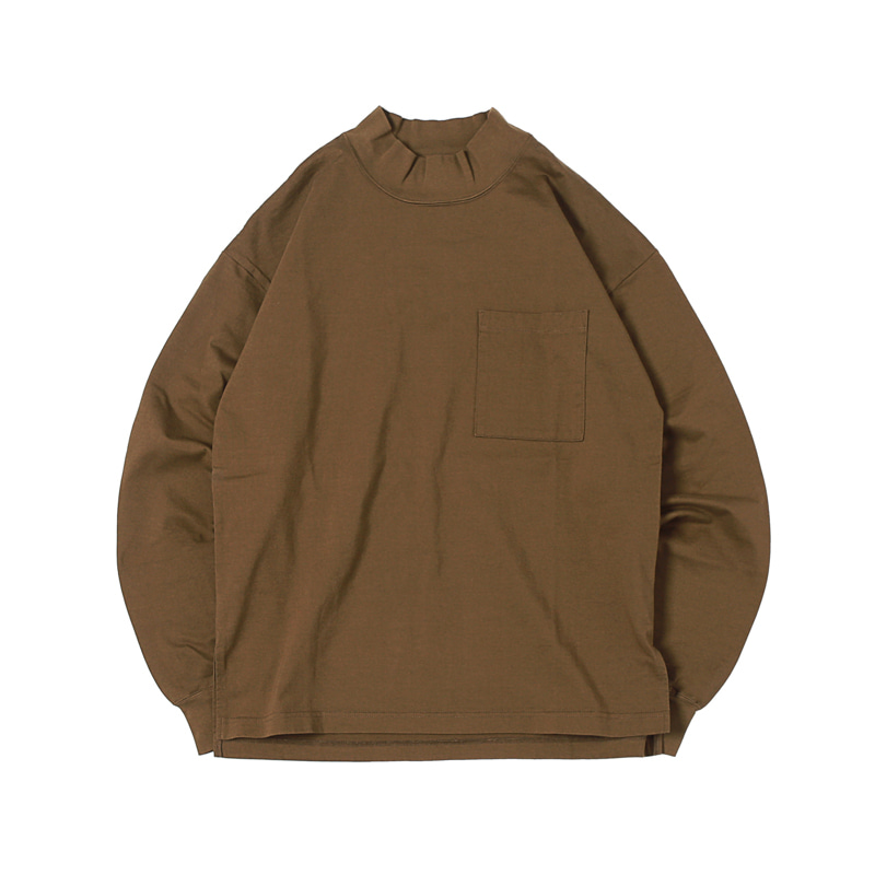 HIGHEST L/S MOCKNECK POCKET TEE  - OLIVE (BH2400)