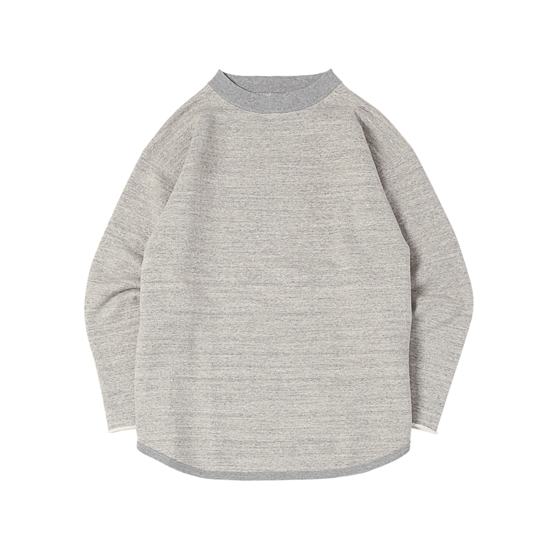 CUT OFF SWEATSHIRTS - HTHR GREY (BR-8021)